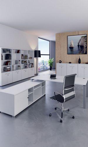 Agencement d'un bureau de direction et son mobilier de rangement